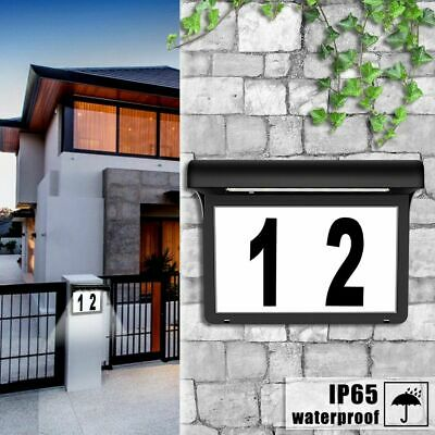 Lighted House Address Number Sign Solar Powered Led Lamp Outdoor Waterproof • 27.32£