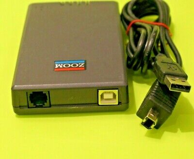 Zoom-56K V.92/V.90 Modem USB Mini External With Cable Portable Dialup 3090A 0375 • 14.95£