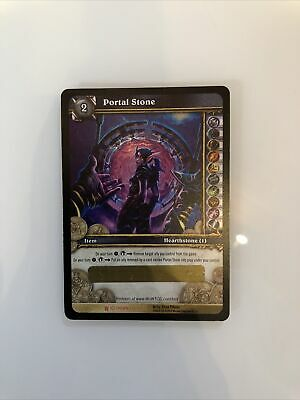 WoW Tcg Loot Card  - Ethereal Portal Stone World Of Warcraft • 269.23£