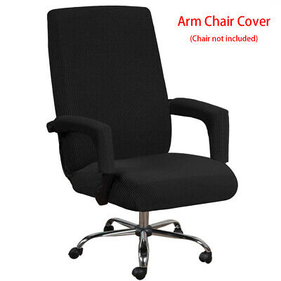 AU25.07 • Buy Office Chair Cover Anti Slip Removable With Armrest Sleeve High Stretch Washable