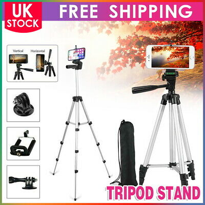 Universal Tripod Stand Telescopic Camera Phone Holder For IPhone Samsung Sony UK • 12.39£