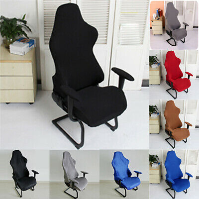 AU28.24 • Buy Computer Seats Home Office Spandex Chair Covers Washable Reusable Soft Armchairs