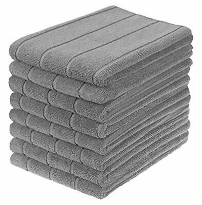 £19.99 • Buy Grey Microfibre Tea Towels (Set Of 8, Super Absorbent, Extra Large And Thick)