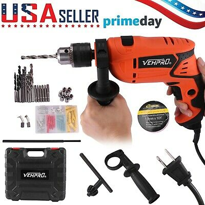 View Details Heavy Duty 710W Electric 1/2'' Corded Impact Hammer Drill W/ Drill Bit Set Tool • 34.96$