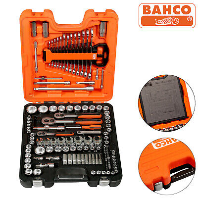 £179.99 • Buy Bahco S138 Socket Set Of 138 Metric 1/4  3/8  And 1/2  Ratchet Extension Bars