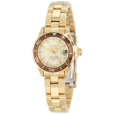 $ CDN66.57 • Buy Invicta Women's Watch Pro Diver Champagne Dial Yellow Gold Bracelet 12527