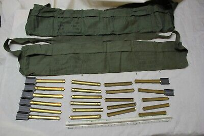$39.95 • Buy US Military And Korea .30 M1 Carbine Six Pocket Bandoleer With Stripper Clips ST