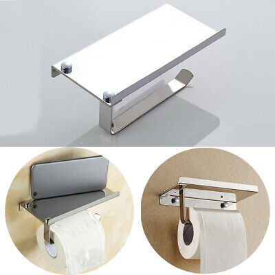 AU23.44 • Buy Wall Mounted Bathroom Toilet Paper Holder Rack Tissue Roll Stand Stainless