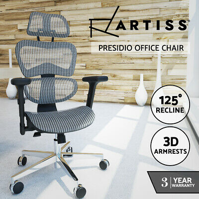 AU272.95 • Buy Artiss Office Chair Gaming Chair Computer Chairs Recliner Mesh Net Seating Grey