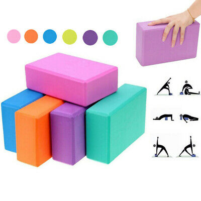 2PC Yoga Block Pilates Foam Foaming Brick Gym Home Fitness Exercise Tool Set • 7.99£