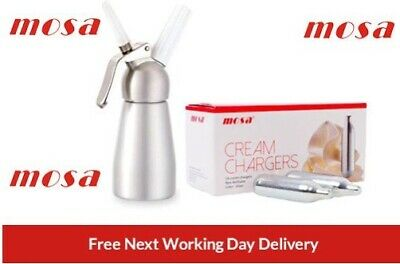 MOSA Whipped Cream Chargers MOSA Canisters & Whipper Option, CHEAPEST ON EBAY!!! • 9.99£
