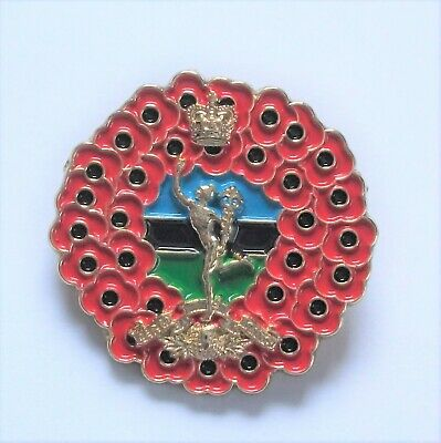 Poppy Wreath Royal Signals Badge In Gold Metal • 6.45£