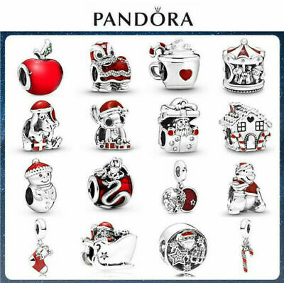 16# Pandora Christmas Authentic Sterling Silver ALE S925 Genuine Charm+Gift Box • 14.99£