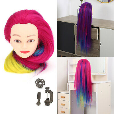 Salon Hair Styling Hairdressing Practice Doll Head Training Mannequin + Clamp • 11.99£