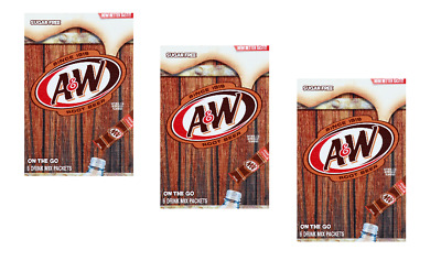Diet A&W Root Beer Singles To Go Drink Mix 3 Boxes 10 CAL NO SUGAR CAFFEINE-FREE • 8.98£