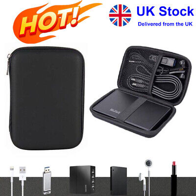 Portable Hard Drive Case Carrying Bag Holder Shockproof EVA Cover Pouch Bags • 5.40£