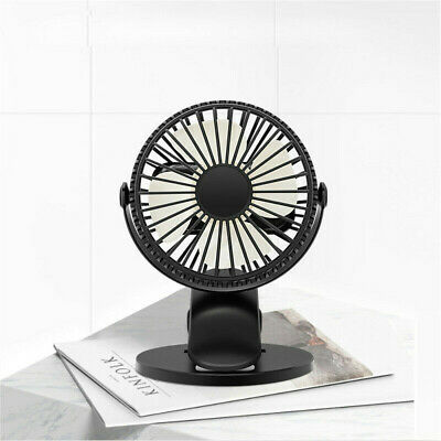 AU24.89 • Buy Clip On Mini USB Desk Fan Summer Small 360 Air Cooler Rechargeable Table Top AU