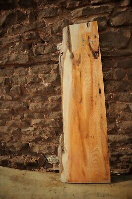 Yew Board Dry Flat & Straight 1 Live Edge R547 • 40£
