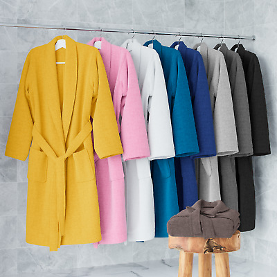 Mens & Ladies 100% Cotton Terry Towelling Hooded & Shawl Bath Robe Dressing Gown • 16.99£