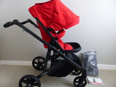Britax B-Ready Pushchair Black & Red With Raincover - New - Can Be A Double • 188.95£