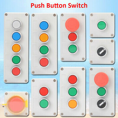 Push Button Start Stop Station Remote Starter Control Green Red Switch • 8.99£