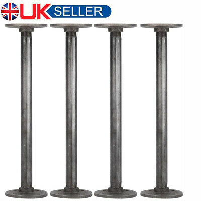 Set Of 4 Metal Table Bench Legs Pipe Retro Industrial Rustic Steel Base Stands • 19.85£