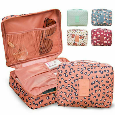 £5.98 • Buy Cosmetic Ladies Makeup Case Pouch Large Travel Toiletry Wash Zip Organizer Bags