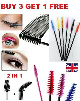 Disposable Mascara Wands Eyelash Brushes Brow Lash Extension Spoolie Applicator • 2.35£