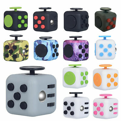 AU7.99 • Buy Fidget Cube 3D Focus Stress Reliever Toys Anti-anxiety Colourful Hand Toys Kids