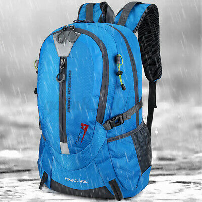 AU22.49 • Buy 40L Waterproof Hiking Travel Camping Bag Large Backpack Outdoor Luggage Rucksack