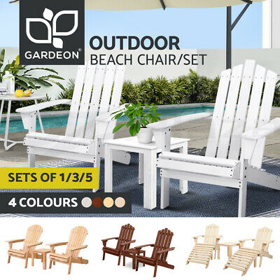 AU236.90 • Buy Gardeon Outdoor Furniture Lounge Chairs Table Set Beach Chair Patio Adirondack
