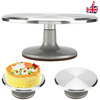 12 Inch Kitchen Cake Decorating Icing Rotating Revolving Turntable Display Stand • 18.45£