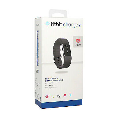 $ CDN91.70 • Buy Fitbit Charge 2 HR Heart Rate Monitor Fitness Wristband Tracker -Black Large
