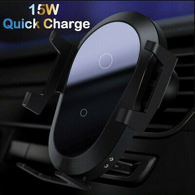 $ CDN12.26 • Buy Car Mount 15W Qi Wireless Fast Charger Automatic Clamping Air Vent Phone Holder