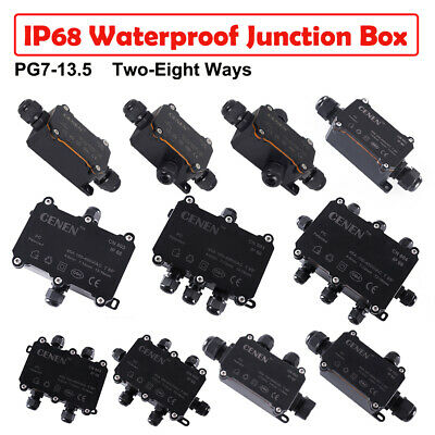 Waterproof Junction Box Electrical Cable Connector Outdoor IP68 Underground • 6.19£
