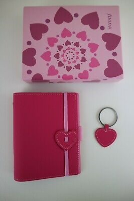 Filofax Pink Heart Pocket Organiser With Heart Keyring • 14.99£