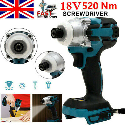 18V 520Nm Cordless Impact Wrench Cordless Screwdriver Brushless For Makita DTW • 26.99£