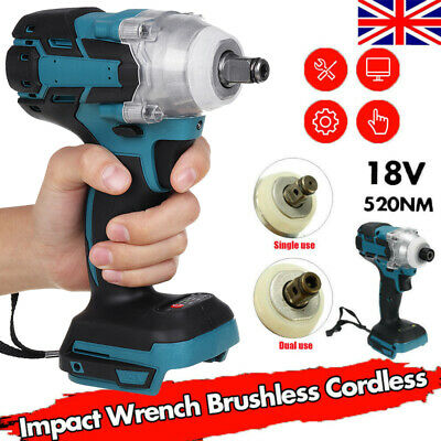 18V 520Nm Cordless Impact Wrench Screwdriver Brushless For Makita DTW285Z 1/2  • 23.99£