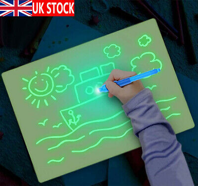 Draw With Light Drawing Board Fun Developing Toy Kids Educational Magic Painting • 7.99£