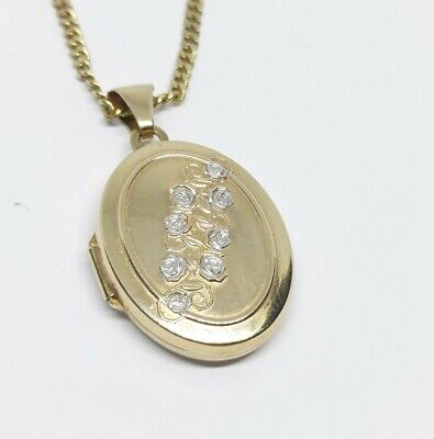 9ct Gold Locket And Chain • 175£