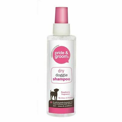 £4.55 • Buy Pride & Groom Dry Doggie Shampoo Raspberry Scented Dog Cleans & Conditions