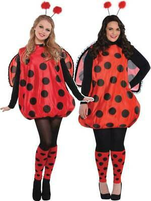 £13 • Buy Ladies Darling Lady Bird Costume Adults Bug Fancy Dress Outfit Ladybird M/L