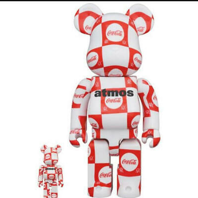 $309.99 • Buy BE@RBRICK Atmos Coca-Cola 100% 400% Clear Figure Medicom Toy