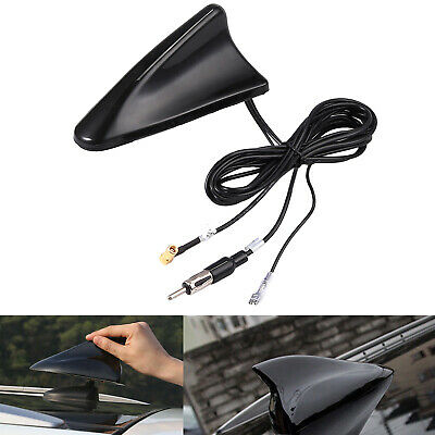 DAB Car Aerial Antenna SMB Adapter AM/FM Shark Fin Roof Mount Aerial For Kenwood • 24.66£