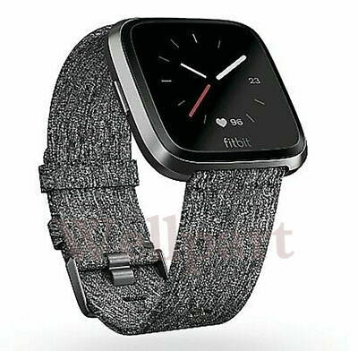 $ CDN111.67 • Buy New Fitbit Versa Special Edition Charcoal With Extra Classic Purple Band Sealed