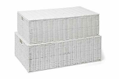 ARPAN Resin Woven Under Bed Storage Box, Chest Shelf Toy Clothes Basket With Lid • 47.92£