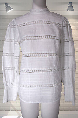 Vintage Edwardian Style High Neck Governess Blouse & Other Stories - Size 38 • 24.99£