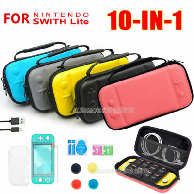 AU21.99 • Buy For Nintendo Switch LITE Hard Carry Case Bag + Cover+ Protector + Charging Cable