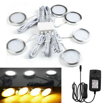 Under Cabinet Lights Kit LED Kitchen Counter Closet Furniture Puck Display Lamp • 16.59£