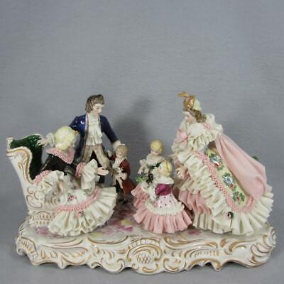 $ CDN1265.44 • Buy Dresden Lace Family By Muller - Volkstedt - Germany Porcelain Figurine